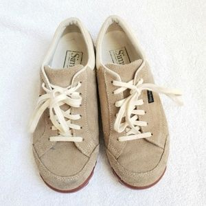 Simple Shoes - SIMPLE Suede Sneakers Oatmeal Natural Sneakers